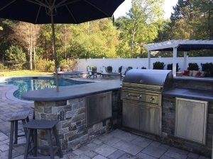 Landscape construction hardscapes outdoor kitchen walpole medfield dover westwood ma